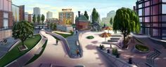Tom Johnson EA Skate concept art