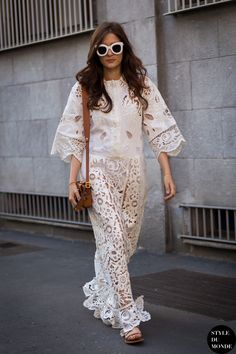 Eleonora Carisi Street Style Street Fashion Streetsnaps by STYLEDUMONDE Street Style Fashion Photography