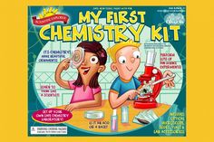 Kids First Chemistry Lab Kit Childs Learning Science Toy Playset Preschool Fun Science Toys, Cool Science Experiments, Science Fair, Toy Packaging, Packaging Design, Chemistry Set, Science Chemistry, Toys Logo, Discovery Toys