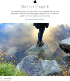 Apple showcases user photos in iPhone ad campaign - iPhone 6 photography is the focus of a billboard and Web site campaign promoting the smartphone's picture-taking capabilities.