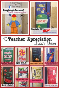 10 Awesome Teacher Appreciation Ideas for Door Decorating at OneCreativeMommy.com:
