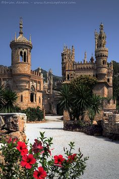Castillo Colomares (Colomares Castle) at Benalmadena Pueblo, Spain pays homage to Christopher Columbus and his discovery of America.  Its beautifully kept gardens complement the Byzantine, Roman, Gothic and Mudejar architecture perfectly.  Built by Esteban Martin and two stonemasons from nearby Mijas, it took from 1987 to 1994 to create this masterpiece.