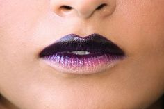 15 Easy Lip-Art Ideas You Can Totally Pull Off: fade to black lips | allure.com