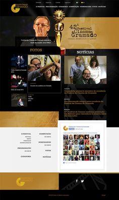 Novo Site do Festival de Gramado está no ar. #web #Design #www www.festivaldegramado.net