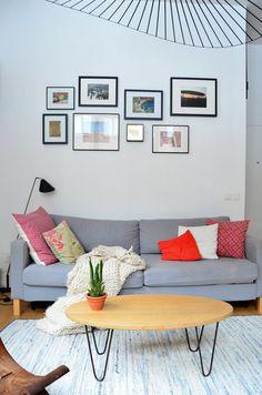 Departamento pequeño 2 ambientes con decoración nórdica vintage 3