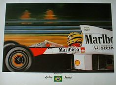 Ayrton Senna print by Zsolt Nagy. #SennaSempre #AyrtonSenna #F1 #Racing