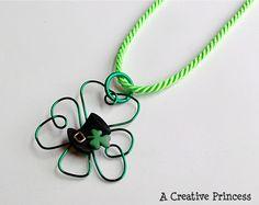 A Creative Princess: Shamrock Necklace