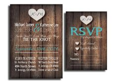PDF Rustic Country Wedding Invitation Set by paigesDesign on Etsy