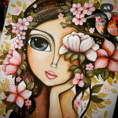 Big Eyes Paintings, Cartoon Girl Images, Frida Art, Paisley Art, Beauty In Art, Hippie Art, Cool Art Drawings, Whimsical Art, Face Art