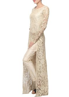 Youdesign Russel Net Kurta Pants In Beige Colour Size Upto Youdesign Russel Net Kurta Pants In Beige Colour Size Upto 66 The Stylish And Elegant Pant Style Suit In Beige Colour Looks Stunning And Gorgeous With. Pakistani Dresses, Indian Dresses, Indian Outfits, Pakistani Couture, Indian Couture, Emo Outfits, Fashion Pants, Hijab Fashion, Fashion Dresses