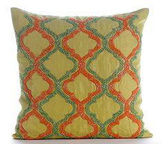 Designer Green Cushion Covers, Modern Floral Throw Pillow... https://www.amazon.com/dp/B00VDDR2FE/ref=cm_sw_r_pi_dp_x_JNuoybFGDA1FD