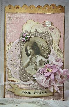 Anne's paper fun: Vintage Cafe Card Challenge