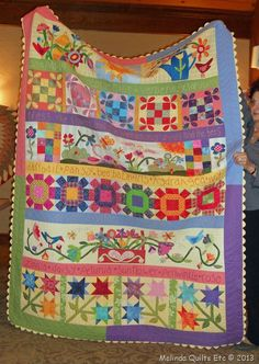 I just love the colors.  Perfect for a garden quilt.