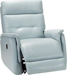 Best Home Goods Leather Recliner In Light Blue Sofa 400 x 300