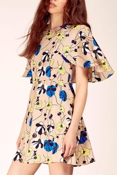 Floral Cape Dress - main