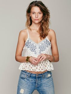 Free People Mirror Strappy Tank, $108.00