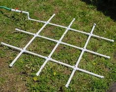 PVC watering grid for #squarefoot gardening. Dang! I wished I'd thought of it first ;-) #Ft2 P.S. You don't have to glue PVC fittings or pipes to test out this system, either. Just push together, with a slight twist and they will stick. Don't put full pressure on them from your hose and they will stay together all year 'round! #GardenDude