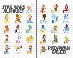 Star Wars Alphabet Baby Nursery Art- Set of 2 Print via Etsy.