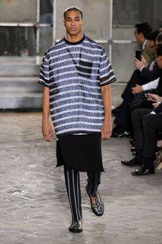 Givenchy ss16 men - seethrough stripes