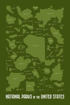 Great poster of the 59 national parks!