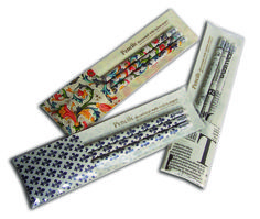 Set of 3 quality pencils covered by hand decorative papers. Made in Italy by Rossi 1931 www.rossi1931.com