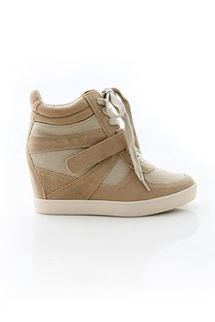 Lace Up Wedge Sneaker | Trendy Shoes at Pink Ice www.pinkice.com