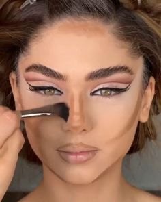 Nose Makeup, Matte Makeup, Cut Crease Makeup, Eye Makeup Art, Sexy Makeup, Contour Makeup, Glam Makeup, Plum Eye Makeup, Cut Crease Eye