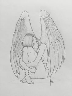 Angel, drawing, pencil, art, sketch