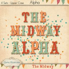 Hey, I found this really awesome Etsy listing at https://www.etsy.com/listing/201600781/the-midway-alpha-4-sets-of-alpha-upper