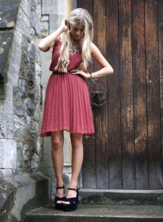 #   Pink Dress   #2dayslook  #fashion #nice #new #Pink #Dress  www.2dayslook.nl