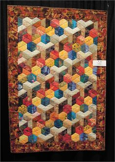 Quilt Inspiration: Quilts of illusion: tumbling blocks