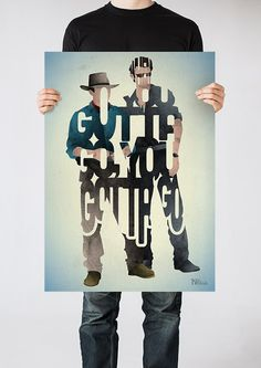 Grant and Malcolm typography art print poster based by 17thandOak, £3.00