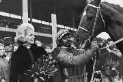 Secretariat, seen here with owner and horse racing luminary Penny Chenery, in 1973 becomes the first Triple Crown winner in 25 years..