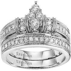 Free Shipping. Buy Keepsake Southern Belle 5/8 Carat T.W. 14kt White Gold Bridal Set at Walmart.com