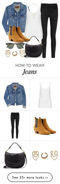 """""""Style #9193"""" by vany-alvarado on Polyvore featuring Acne Studios, Yves Saint Laurent, Topshop, Mulberry, Ray-Ban and Boohoo"""