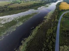 aerial of river