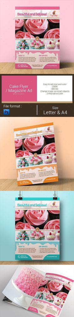 GraphicRiver Cake Flyer Magazine Ad 11049868