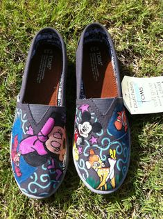 Go here http://m.wikihow.com/Make-Disney-Toms to design these shoes for less than Etsy.
