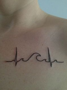wave + heartbeat + heart tattoo - Google Search