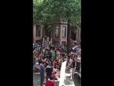 Hamilton sing along block party - YouTube