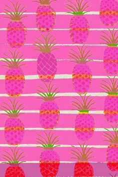 Barbara Perrine Chu - Pink Pineapples Art Print