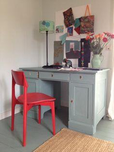 Georgia 017 - Kreideemulsion – Kreidefarbe - grau-gruen Wand und Möbelfarbe