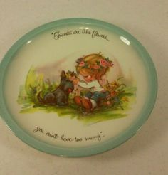 """1972 Gigi """"American Greetings"""" Collectors Plate """"Friends are like Flowers"""""""