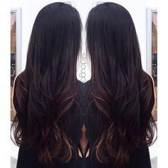 salon 5150 - Brea, CA, United States. Settle balayage on dark hair by Doug O'Connell