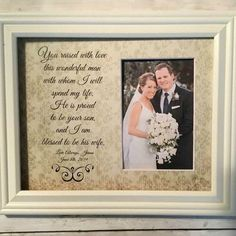 Personalized Wedding Frames by WeddingFramesByDiane on Etsy Mother Of The Groom Gifts, Wedding Gifts For Parents, Mother In Law Gifts, Father Of The Bride, Personalized Picture Frames, Personalized Wedding Gifts, Groom Pictures, Wedding Pictures, Couple Pictures