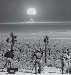 """Detonation of the nuclear device air-dropped at Nevada Test Site on March Code named WASP PRIME."" Photo courtesy of National Nuclear Security Administration / Nevada Site Office Bomba Nuclear, Nuclear Test, Nuclear Bomb, Nuclear Energy, Photos Du, Old Photos, Nevada Test Site, Photos Rares, Rare Historical Photos"