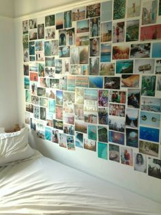 This is not a blueberry wall. But it would be an amazing one. Blueberry wall is a photo wall that lights up when your loved one thinks of you. And when you touch any of the photos your love will see what moment in time you remember.. Click to see how it works.