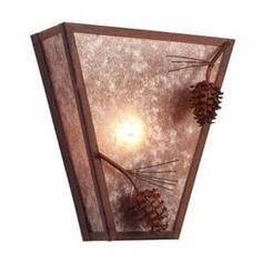 Steel Partners Ponderosa Pine Vegas 1 Light Wall Sconce Finish: Black, Shade Color: White Mica
