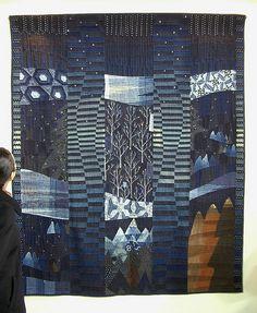 indigo quilt, tokyo quilt festival 2008