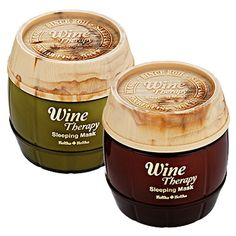 Wine Therapy Sleeping Mask from Holika Holika - because who doesn't like red wine?